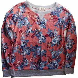 Hippie Rose Juniors Printed Pullover Sweater Small